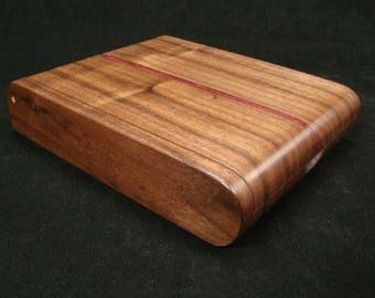 Black Walnut Desk Box, Jewelry Box, Pen Box