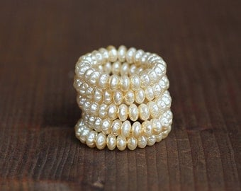6mm Czech Baroque Pearl Rondelle Spacer