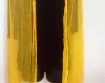 LARGE LINEN SCARF linen and silk scarf,   Light summer scarf,  silk scarf,  bright scarf wrap