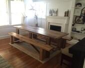 Patricia- Custom Reclaimed Oak Farmhouse Dining Table