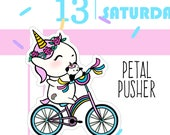 ON SALE Until 4.30.17 - Petal Pusher - LARGE Sprinkles and Pandi Biking Stickers