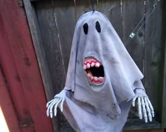 Tooth Rot Ghost - Original Hanging Halloween Decoration