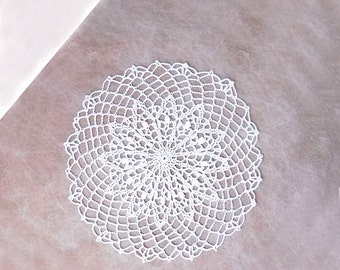 Elegant Crochet Doily, White Lace Decor, Table Accessory, Weddings, New