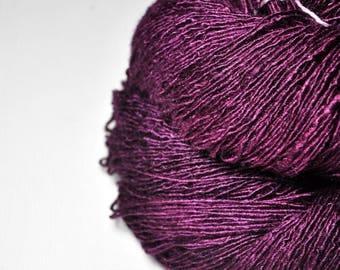 Burning fuchsia - Tussah Silk Fingering Yarn