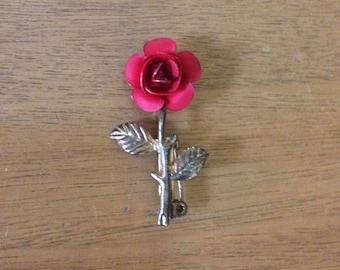 Little Gold Rose Brooch Pin