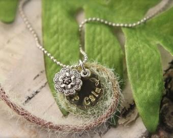 Flower Keep Calm Necklace