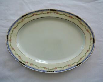 Platter-Heinrich & Company-Selb, Bavaria-Bone China-Art Deco