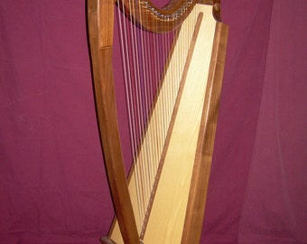 29 String Gothic Harp in Walnut or Cherry