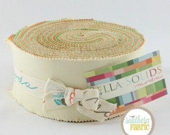 Bella Solids Warm  by Moda- Quilt Fabric Strips - 1 Jelly Roll