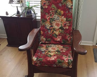 Morris Style Vintage Recliner - Tiger Oak Vintage Chair - Antique 1930's  Style Recliner
