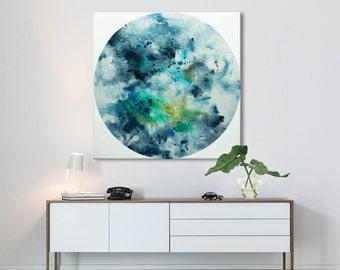 square large print from original painting seascape painting contemporary minimalist Elenas Art Studio.