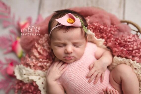 Calla Lily- felt flower headband