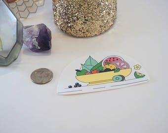 Summer Fruit Bowl Sticker Large, Bullet Journal Stickers, Scrap Book Stickers, Crafts, Decoration, Hand cut