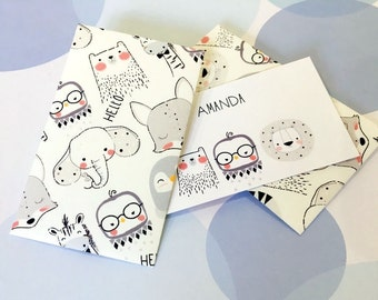 Personalized Gift Enclosure Cards, Mini Cards, Gift Cards, Children's Cards, Set of 10