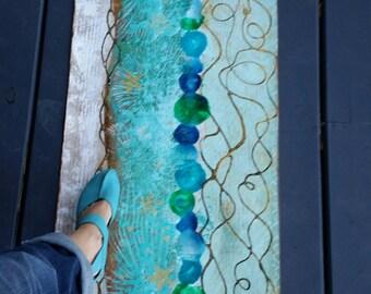Oceanic Floor Runner- Floor Cloth
