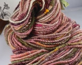 Handspun Art Yarn Corespun Sheeping Beauties Coopworth and Silk 'Lady Slipper'