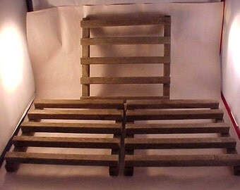 3 Weathered Wood Plant Stand Drying Rack