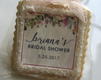 Bridal Shower custom cookie favors spring floral