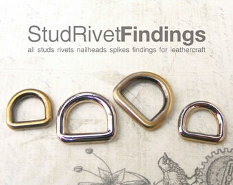 10pcs ZINC D-ring FOB Purse Hardware Finding for Purse Ring, Clasps Hook Ring/ High Quality