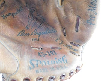 Vintage Spalding Don Drysdale Baseball glove