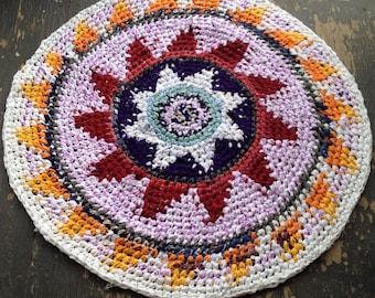 Comsic Crochet Round Rag Rug