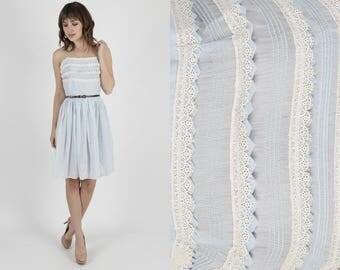 50s Dress Blue Dress 1950s Dress Bridesmaids Dress Summer Dress Day Dress Vintage 50s Pinup Dress Lace Bombshell Wedding Party Mini S M