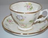 Royal Albert cup and saucer 100 years Spring Meadow tea cup Centennial 1920 s teacup