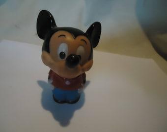 Vintage Walt Disney Ideal Mickey Mouse Bobble Head El Salvador Toy, collectable, Walt Disney