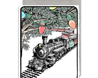 Christmas Tree Train and Silver Envelope