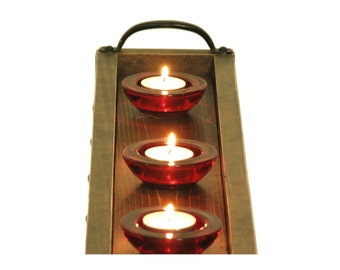 Candle tray wooden candle holder mantle candle tray candle for Mantle holders