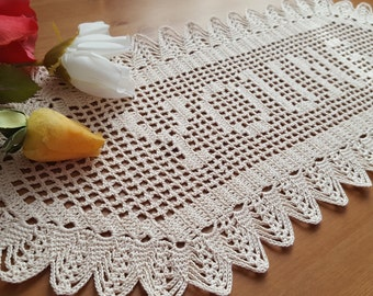 Personalized young girl gifts crochet name doily name gifts for friends