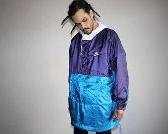 90s Vintage Nike Colorblock Hip Hop Windbreaker Jacket - 1990s Nike - 90s Clothing - MV0147
