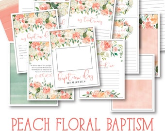 LDS Baptism Memory Book - Instant Download