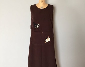 30% OFF WINTER SALE... fudge brown maxi dress | kitten patchwork artist maxi dress