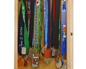 Custom Maple Marathon Medal Display