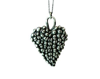 Stunning Large Gothic Silver Heart Pendant