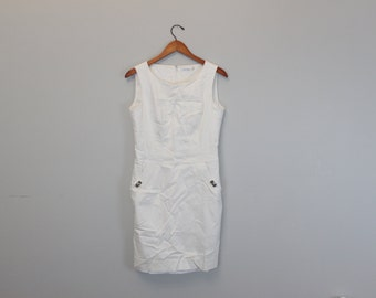 Vintage 90s White Fitted Calvin Klein Dress