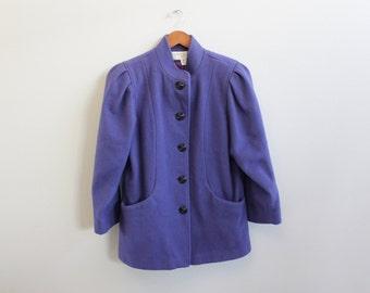 Vintage Purple 80s Coat by Bert Newman