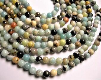 Amazonite 10mm round beads 1 full strand  39 beads - RFG1256