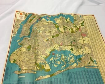 Vintage Shell Map - Brooklyn, Queens & Long Islang