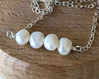Pearl Wire Wrapped Necklace