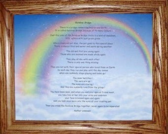 Rainbow Bridge Frame Etsy