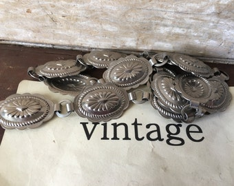 Vintage Metal Belt Western Style Adjustable