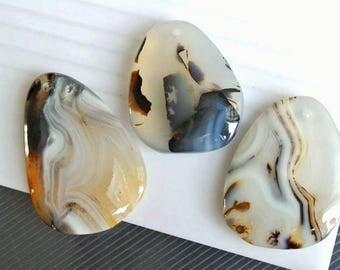 Agate slice pendant, Montana Agate pendant, Gemstone pendant, gemstone pendant, Unique Montana Agate pendant JSP-7734