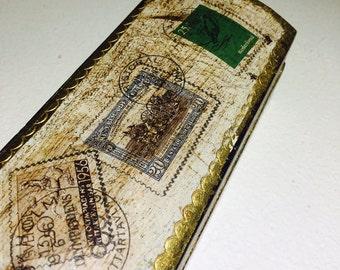 Florentine Box Stamp Box Gold Gilt Box Florentia Stamp Box