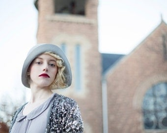 The Joyce, Silver Sand: classic woman's hat for the feminine beauty