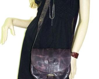 DISTRESSED Leather Saddle Bag // Goldmann S // Leather Messenger // Cross body bag // Leather Messenger