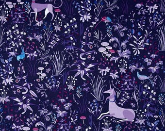 The Lovely Hunt Tapestry purple Lizzy House FQ or more