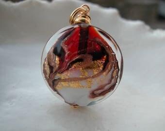 Red Murano Necklace, Murano Glass Jewelry