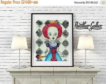 50% Off Today- POSTER ART  Alice In Wonderland Queen Print
